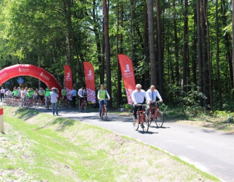 W Zwierzyńcu otworzono pierwszy na Lubelszczyźnie odcinek szlaku rowerowego Green Velo
